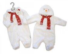 Baby Boys Girls Christmas Snowsuit Xmas Novelty Snowman Hooded NB 3 6 White 05