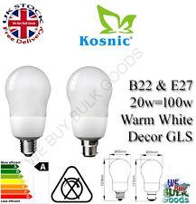 Kosnic a basso consumo energetico GLS 20w BC/ES b22/e27 Cfl Lampada Bianco Caldo