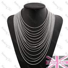 SLINKY DRAPE BIG NECKLACE statement LAYERED LIQUID CHAINS gold/silver FASHION