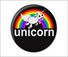 UNICORN button badge magical rainbow love unicorns 25mm 58mm funny novelty new