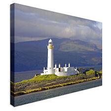 FARO nei pressi di Oban, Scozia Tela Muro ARTE A Buon Mercato Stampa HOME Interior