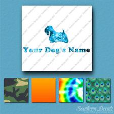Custom Sealyham Terrier Dog Name Decal Sticker - 25 Printed Fills - 6 Fonts