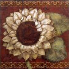 Tile Mural Backsplash Ceramic Rich Sunflower Flowers Floral Art OB-WR1321
