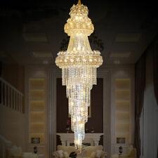 LED K9 Crystal Chandelier Ceiling Lamp Lighting Luxury Staircase Pendant Light