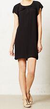 HD in Paris Crepe Deora Dress Size 10 Petite Black Color NW ANTHROPOLOGIE Tag