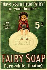 Fairy Soap Advert Vintage Retro Style Metal Sign, bathroom, laundry,