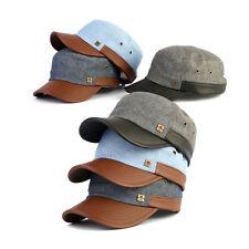 Unisex Mens Womens Mqum Denim American Casual Military Cadet Cap Trucker Hats