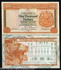 HONG KONG CHINA $1000 P190 1981 LION HSBC LARGE SIZE RARE UNC* CHINESE BANK NOTE