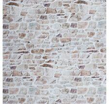 Muro de piedra Tapicería De Cortina de pared de ladrillo material de tela de algodón 140cm ancho color beige