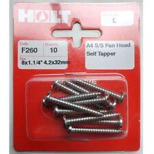 HOLT Marine Prepack A4 / 316 S/S Pan Head Self Tapper Screws (PPB/PPC/PPD/PPE)