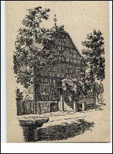 KORBACH Gasthaus Zur Waage n.e. Federzeichnung Janisch