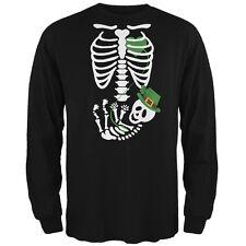 Halloween Irish Baby Skeleton Black Adult Long Sleeve T-Shirt