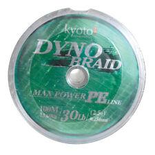 Tronixpro kyoto dyno tresse verte & fantôme gris tresse 100m à 1000m lié bobines