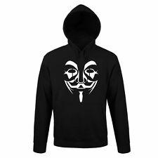 FELPA anonymus DIVERTENTE HAPPINESS MAGLIA TRUMBL GIROCOLLO UOMO VIP STYLE NERD