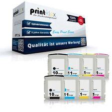 8x Premium Tintenpatronen für HP 10+11 Austausch Tinten XL Set -Easy Print Serie