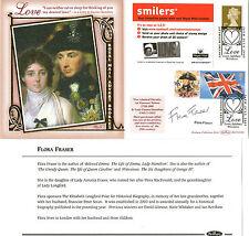 2005 LOVE ADVERT BOOKLET PANE SIGNED FLORA FRASER BENHAM FIRST DAY COVER SHS