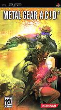 Metal Gear Acd 2 Acid by Konami Sony PSP game NEW  SEALED