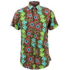 Camisa para hombre fuerte Originals a medida con espiga marrón estilo psicodélico Fancy