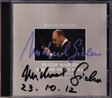 Michael Gielen firmato MAHLER SYMPHONY NO. 7 SWF Filarmonica-Orchestra CD Intercord