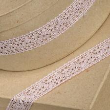Vintage Rose Sombre Rose Dentelle coton ruban 25mm Trèfle Vert