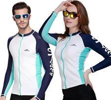 Men Women Anti-UV Shirts Snorkeling Diving Skinsuit Wetsuit Surfing Long-sleeve