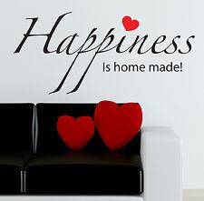 famille Autocollant Mural Happiness Is Fait maison citations Décalques W19
