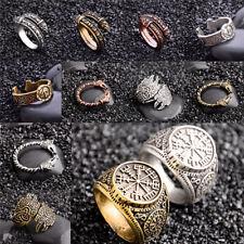 Retro Viking Nordic Norse Star Celtic Metal Punk Gothic Adjustable Antique Ring