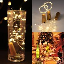 3X 30 Led Wine Bottle Cork Lights Copper Wire Fairy Strings Lamp for X'mas Decor