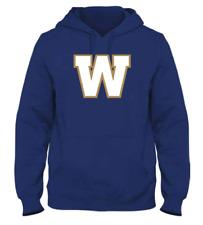 Men's Winnipeg Blue Bombers Royal Primary Logo CFL Football Hooded Sweatshirt