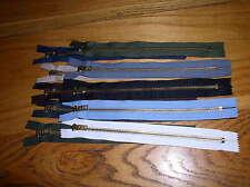 "New Brass Zipper 9""  Assorted Colors Heavy Duty"