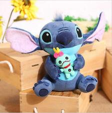 23cm Lovely Lilo & Stitch Plush Doll Holding Scrump Soft Stuffed Toy Kids Gift