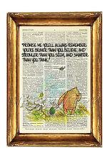 Winnie THE POOH Citazione VINTAGE DIZIONARIO Stampa Foto Wall Art Antico