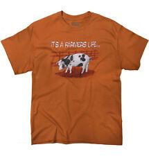 Farmer Life Funny Shirt Cute Cool Farming Gift Idea Pig Horse T Shirt