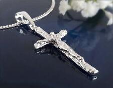 Kreuz Anhänger Silber 925 Sterlingsilber Kreuz Silber massiv Herren sh59