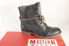 Mustang Bottes Bottines Boots délaçage graphite NOUVEAU!