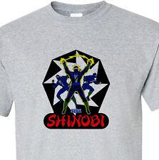 Shinobi T-shirt retro arcade video games vintage style distressed heather grey