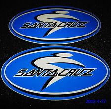2 Autentici Santa Cruz biciclette Blu Adesivi / Decalcomanie / aufkleber