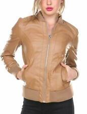 Noora New Women Lambskin Leather Designer Tan Jacket Modern Bikers Stylesh QD265
