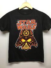 Boys Star Wars Black Darth Vador Candy Skull T-shirt NWOT