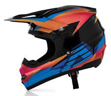 ACERBIS PROFILE TIMEBOMB HELMET BLACK ORANGE BLUE MOTOCROSS MX ENDURO CHEAP BMX