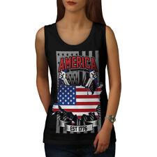 NATION américaine Femme Fashion Tank Top New | wellcoda