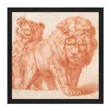 4x serviettes en papier pour découpage Craft et parti-deux peut Art sauvage Lion