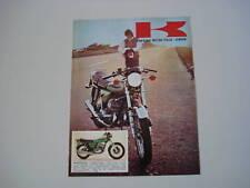 advertising Pubblicità 1973 KAWASAKI 500 MACH III H1D
