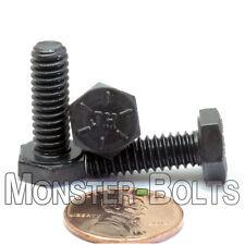 """1/4""""-20 - Hex Cap Bolts / Screws SAE Coarse Grade 8 Alloy Steel Black Oxide HHCS"""
