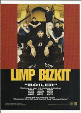 LIMP BIZKIT Boiler & PRIMER 55 This Life TRADE AD POSTER for Hot Dog 2001 CD