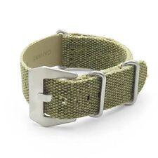 DASSARI Shred Frayed Edge Canvas Distressed Watch Band Vintage Strap in Green