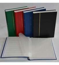 Briefmarkenalbum, Einsteckbuch, Einsteckalbum, 60 weiße Seiten, schwarzer Ein