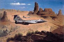 "Heinz Krebs F-104 Print ""Gunfighters of the New West"""