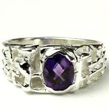 Amethyst, 925 Sterling Silver Men's Ring, SR197-Handmade