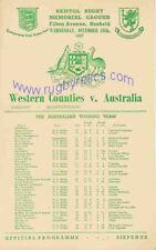 WESTERN contee V Australia 1957 RUGBY programma HJC